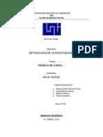 UNIVERSIDAD NACIONAL DE INGENIERÍA METODOLOGIA 2014