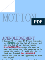 Motion and its formulaes