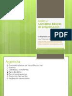 Sesión 2 - Conceptos básicos de programación