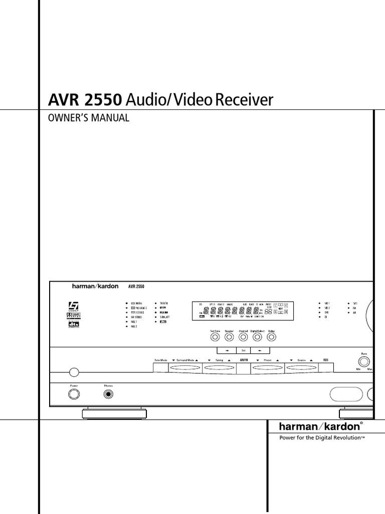 Harman Kardon Avr 2550   Video