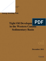 Tight Oil Developments in in the Western Canada Sedimentary Basin