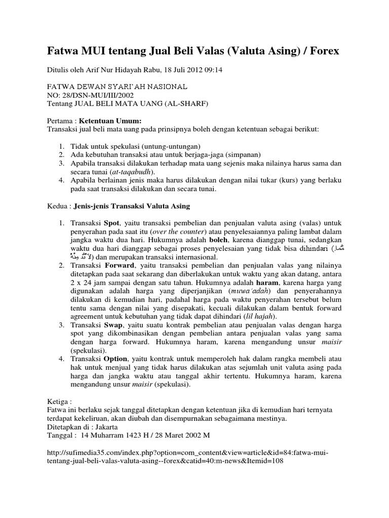 PBI terbit, transaksi hedging DNDF mulai berlaku