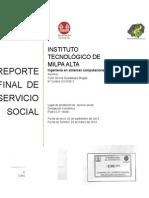 Servicio Social Reporte