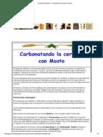 Cerveza de Argentina - Carbonatando La Cerveza Con Mosto