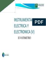 Inst. E y E 05 (Vatimetro-Puente Wheatstone)