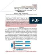 Using of Dynamic Voltage Restorer (DVR) to Mitigate Sag & Swell Voltage during Single Line to Ground & Three-Phase Faults