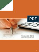Auditors Report 2012
