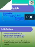 NDT of Materials