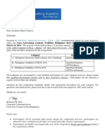 Invitation Letter to ACADEMIES Netriders 2014