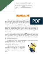 Worksheet 2 - Despicable Me
