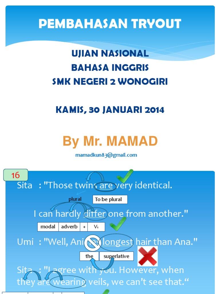 Contoh Pembahasan Soal Bahasa Inggris Employment Grammar