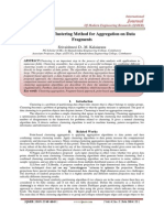 An Efficient Clustering Method for Aggregation on Data Fragments