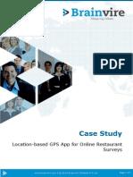 Location-based GPS App for Online Restaurant Surveys