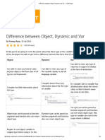 Difference Between Object, Dynamic and Var - CodeProject