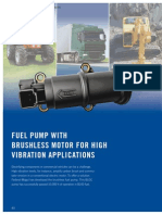 Fuel Pump With Brushless Motor for High Vibration Applications