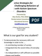 Bihejvioralne strategije autizam