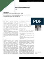 A Process for the Portfolio Management