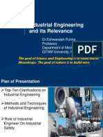 Industrial Engineering and its Relevance