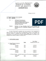 BOC Customs Memorandum Order 7-2014