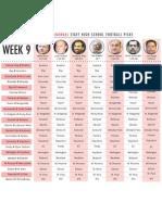 Week 9 Football Picks