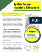 Help this farmer stop Monsanto's GM canola (Steve Marsh)