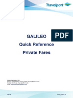 Galileo Quick Reference Private Fares News