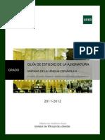GUÍA II Sintaxis de la Lengua Española II 2011-2012