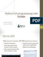 Python GUI Programming With PySide