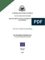 Suport de Curs. Economie Europeana