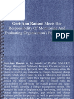 Geri-Ann Ranson Meets Her Responsibility Of Monitoring And Evaluating Organization's Performance