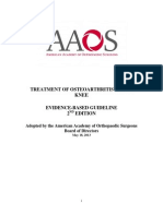 Treatment of Osteoarthritis of the Knee Guideline