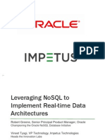 Leveraging NoSQL Database Technology to Implement Real-time Data Architectures- Webcast