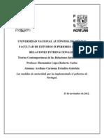 Las Medidas de Austeridad Que Ha Implementado El Gobierno de Portugal Para Contener La Crisis Financiera
