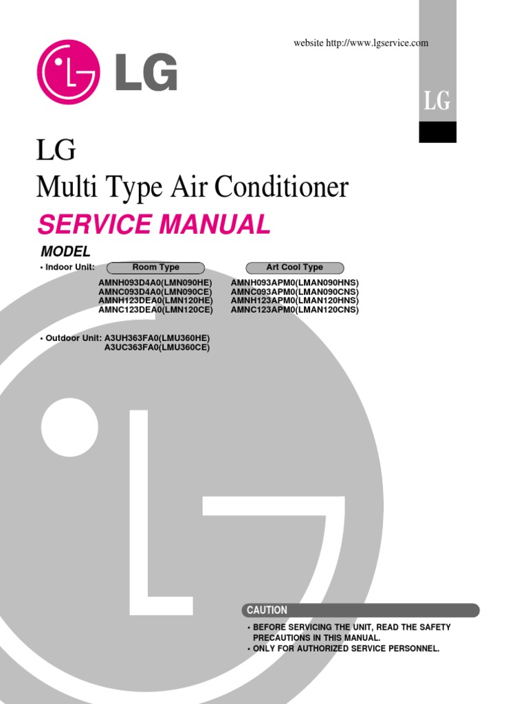 LG Flex Multi Service Manual | Electrical Wiring | Air Conditioning