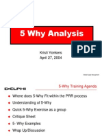 5 Why Training 4-27-04