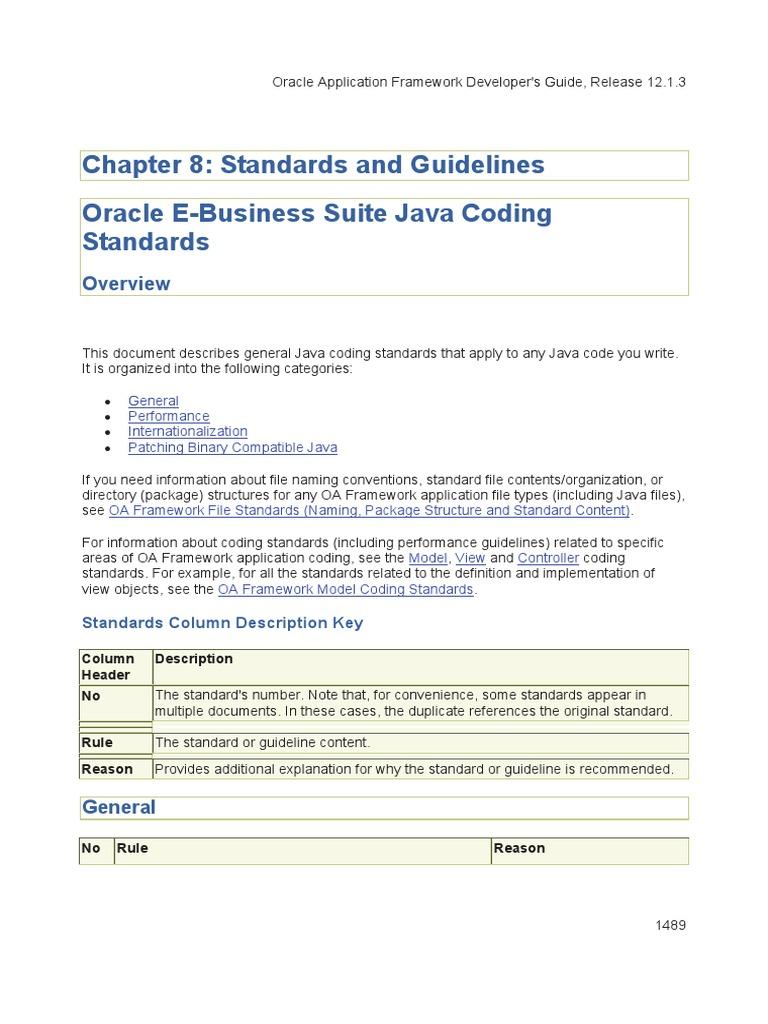 oaf standards java programming language class computer rh pt scribd com oracle oa framework developer guide oa framework developer guide 12.1.3