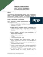 Microsoft Word - Especificaciones Tecnicas Instalacaiones El