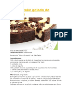 Cheesecake Gelado de Brownie