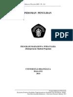 Pedoman Penulisan Pmw-ub 2014
