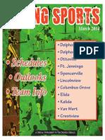 2014 Spring Sports Tab