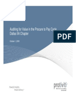 Procurement to PAY Audit by Protiviti