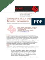 Competencia de trabajo en equipo, definición y categorización