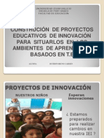 Construcción de proyectos innovadores de educación