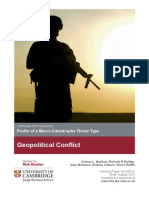 Geopolitical Conflict Threat Monograph