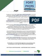 AMORTECEDORES FORT PEÇAS