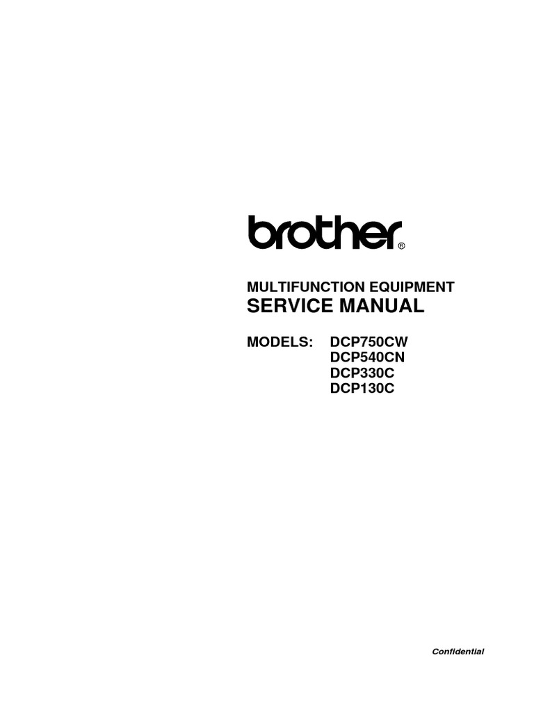 ROTHER SERVICE MANUAL cp130c Dcp330c Dcp540cn | Secure Digital | Image  Scanner