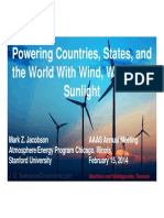 Powering Countries, States and the World With Wind, Water and Sunlight