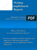 LECTURE 6a - Writing Accomplishment Reports