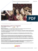 MAC Championships on Tap For No. 18 Gymnastics - CMUChippewas.com—Official Web Site of Central Michigan University Athletics