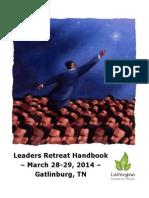 Leaders Retreat 2014 HANDBOOK